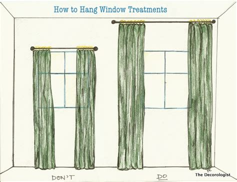 how high to mount curtain rod how to hang window treatments like a pro window source nh