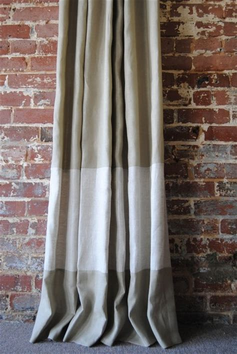 Banded Drapery Panels custom two toned banded knife pleated drapery panel