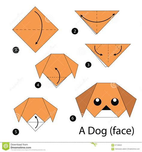 Puppy Origami - how to make a origami puppy images craft decoration ideas