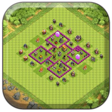coc base layout free download town hall 6 farming base coc android apps on google play