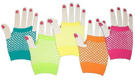 80 S Accessories 1980 S by 80 S Accessories Neon Fishnet Gloves 80 S Style