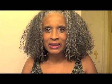 gray hard to manage natural hair diva cut on gray natural hair youtube