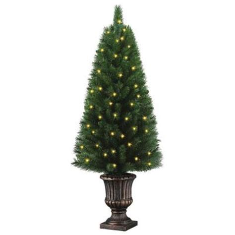 home accents holiday 4 ft potted artificial christmas
