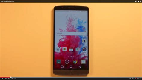 factory reset lg g3 how to hard reset lg g3 youtube