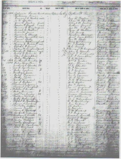 County Kentucky Birth Records Adair County Births
