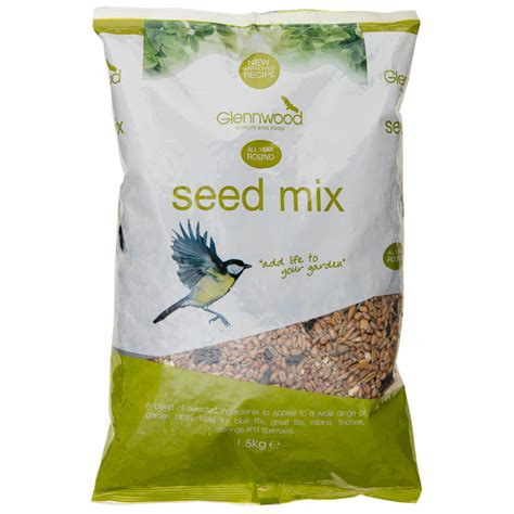 glennwood wild bird seed mix 1 5kg bird feed bird food