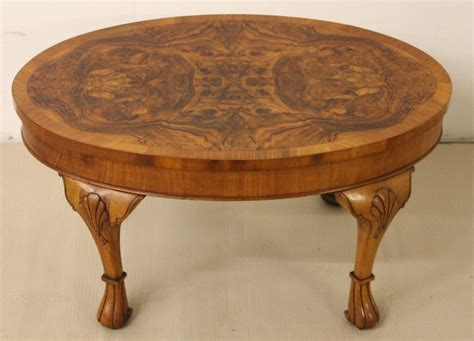 Oval Burr Walnut Coffee Table Antiques Atlas Oval Walnut Coffee Table