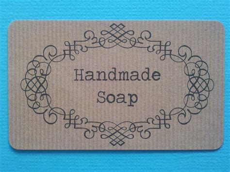 Handmade Soap Label - handmade soaps candles cosmetics labels tiggletaggle