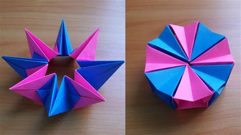 Simple But Cool Origami - diy how to fold an easy origami magic circle fireworks