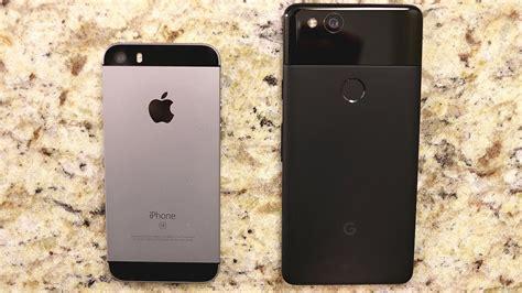 iphone v pixel 2 iphone se vs pixel 2 speed test