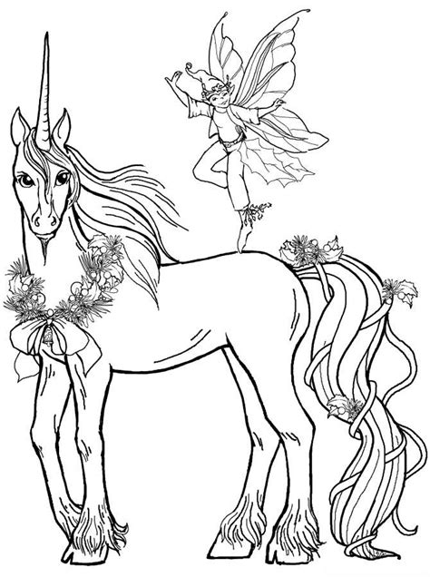 fairy unicorn coloring page fairy print out coloring pages 171 free coloring pages