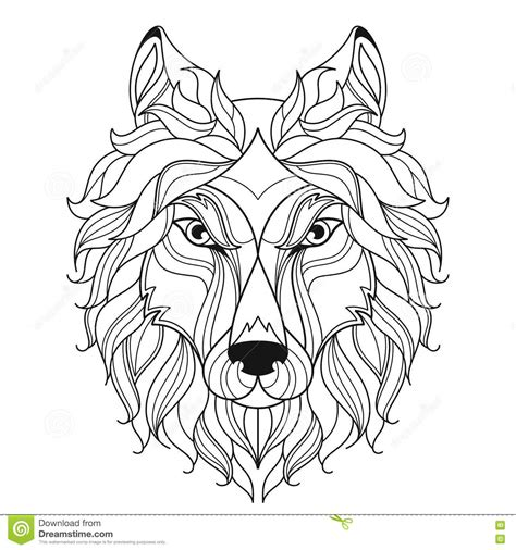 coloring page wolf head 100 free zentangle dog coloring page zentangle