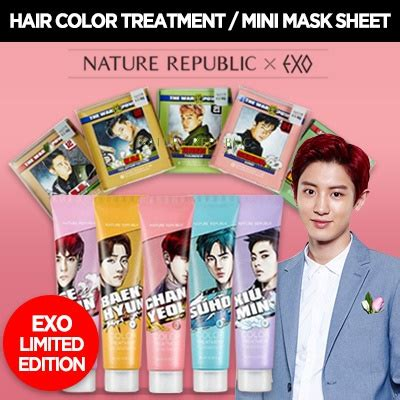 exo hair color treatment qoo10 exo x nature republic limited edition hair and