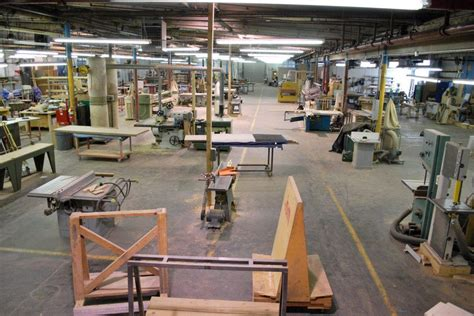 shared woodworking space furniture makers space for large scale manufacturing