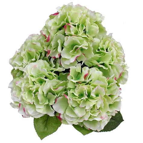 silk wedding flower arrangement 5flowers artificial silk hydrangea bouquet flower