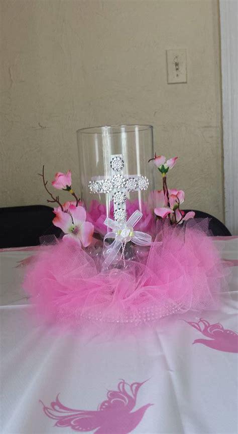 centro de mesa para ni a bautizo comunion presentacion unico centro de mesa con vela para