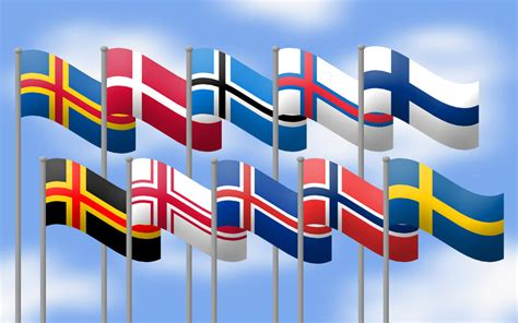 flags of the world with crosses nordic cross flags