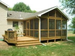 Screen Porch Designs For Houses by Decks Amp Screened In Porches Screened In Back Porch Ideas