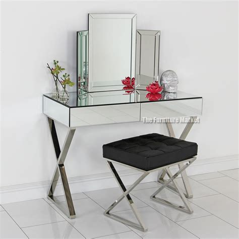 Mirror Vanity Furniture by Mirrored Vanity Table Set