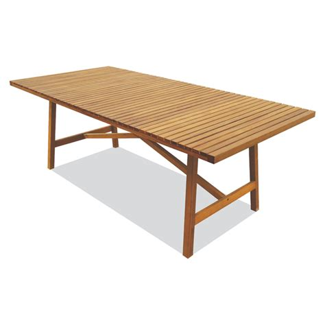 mimosa mareeba timber dining table bunnings warehouse