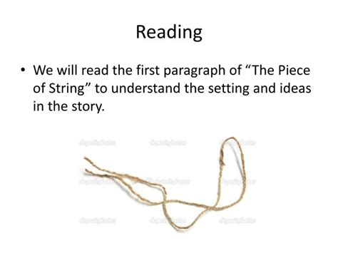 themes of the story a piece of string ppt the piece of string powerpoint presentation id 2441095