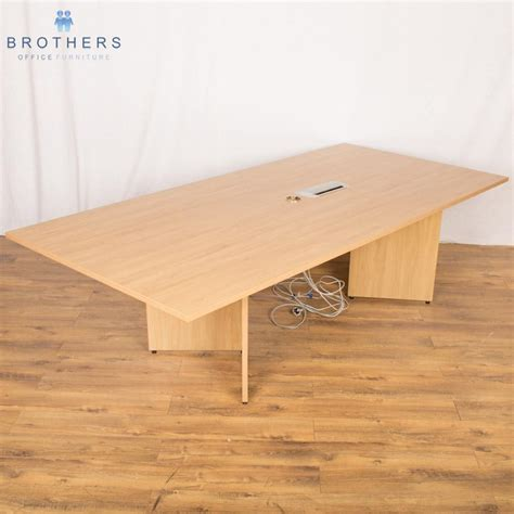 Sven Boardroom Table Sven Oak 2500x1200 Boardroom Table