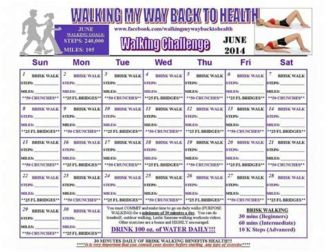 relay for walking schedule template walking challenge monthly fitness challenges