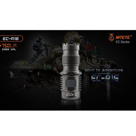 Senter Usb niteye ec r16 rechargeable usb senter led cree xpl 750