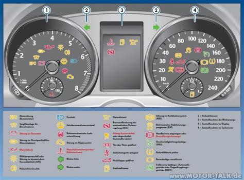 Kontrollleuchten Auto Und Ihre Bedeutung by 4 Armatur Und Kontrollleuchten Was Ist Das Denn