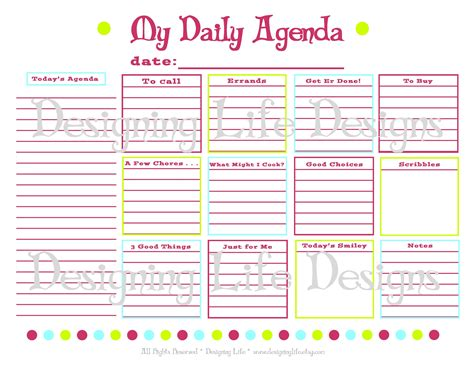 7 best images of blank daily school schedule template 7 best images of online agenda printable free printable