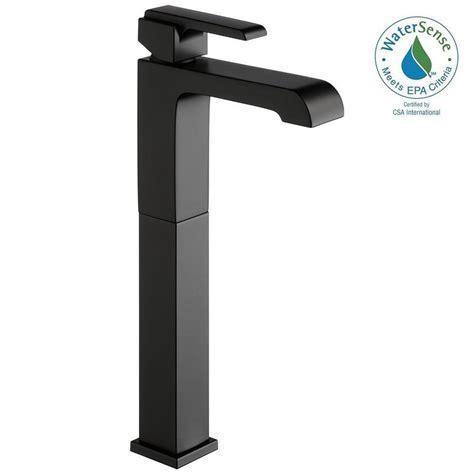 matte black bathroom faucet delta ara single single handle vessel bathroom faucet