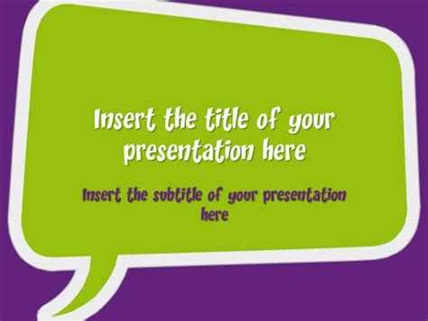 Speech Bubbles Free Template For Powerpoint And Impress Speech Ppt Templates Free