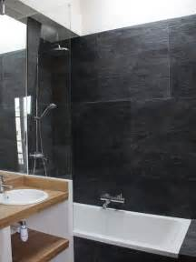 Small Bathroom Ideas Australia Salle De Bain Avec Un Carrelage Noir Photos Et Id 233 Es