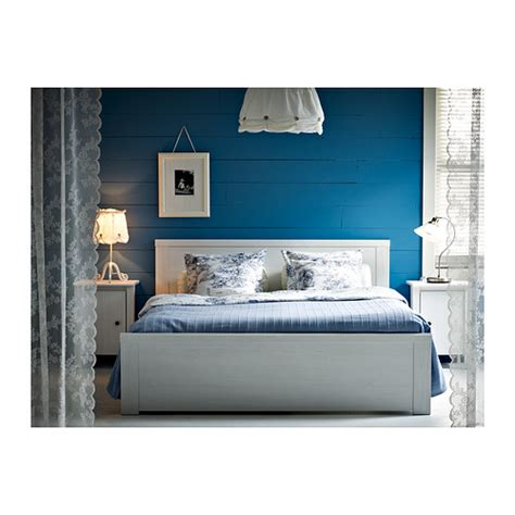 brusali bedroom brusali bed frame white lur 246 y standard double ikea