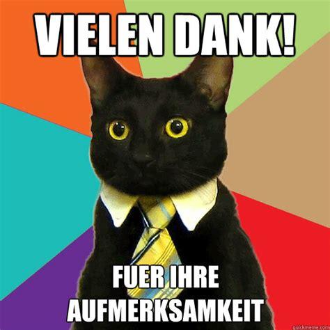 Office Cat Meme - vielen dank fuer ihre aufmerksamkeit business cat