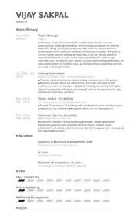 Software Development Team Leader Sle Resume by Team Manager Resume Sles Visualcv Resume Sles Database