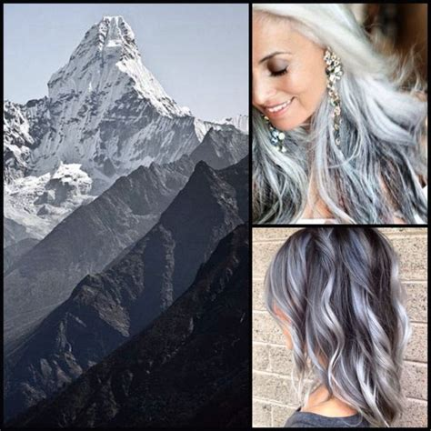 ombre hair color for salt and pepper hair 14 best best highlights for gray hair images on pinterest