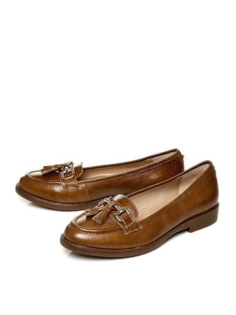 moda in pelle loafers moda in pelle emilias flat loafers in brown lyst