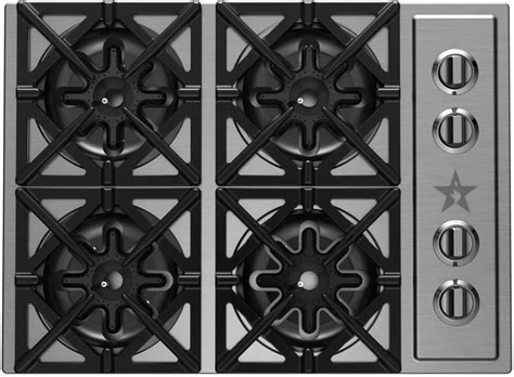 bluestar cooktop bluestar rbct304bssv2 30 inch pro style gas cooktop with 4