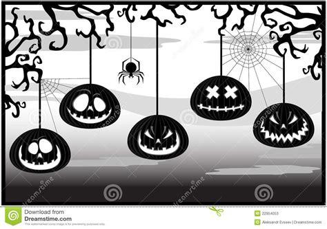 imagenes en blanco y negro de halloween marco blanco y negro con las calabazas fotos de archivo