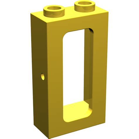 Lego Part Yellow Window 1 X 2 X 3 Pane With Thick Corner Tabs lego yellow window 1 x 2 x 3 brick owl lego marketplace