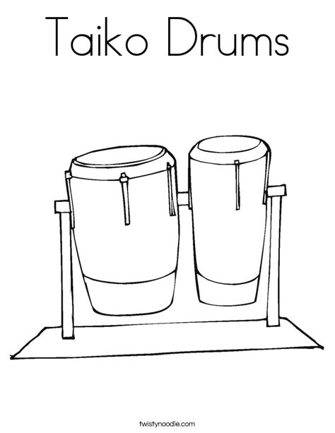 drum template conga drums coloring pages coloring pages