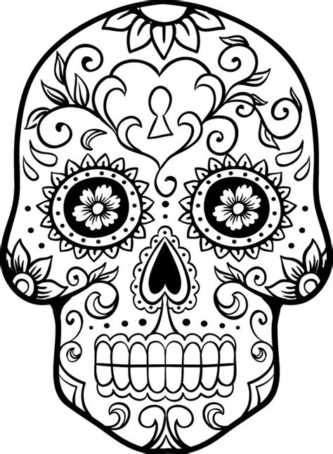 creative skull head coloring pages
