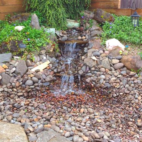 backyard water feature house