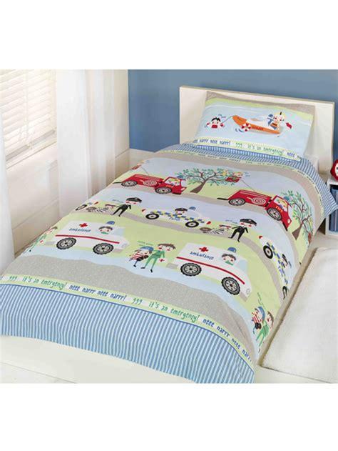 Bed Cover Set Uk 120x200 brandweer politie ambulance eenpersoons dekbedovertrek