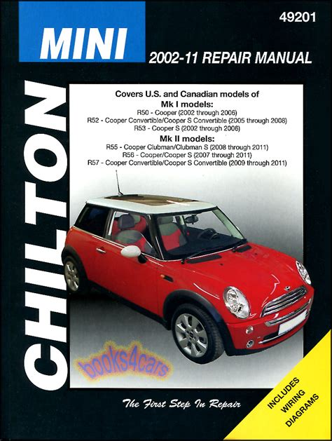shop manual mini cooper service repair s book chilton workshop guide haynes