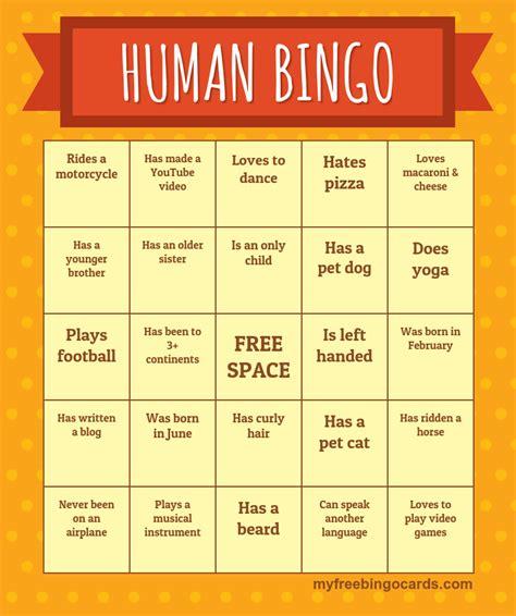 human bingo template search results for bingo printable free