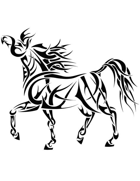 tribal horse tattoo designs tribal 4 by coyotehills on deviantart