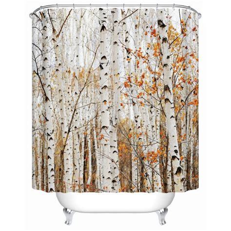 eco shower curtain forest trees eco friendly waterproof shower curtains