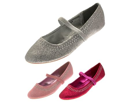 glitter flat shoes uk glitter studded shoes janes flat ballet